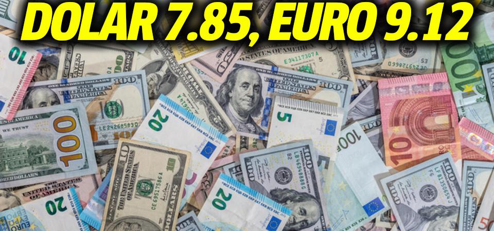 YEP öncesi piyasalarda son durum: Dolar 7.85, euro 9.12