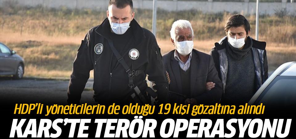 Kars'ta terör soruşturması: HDP'li belediye yöneticilerinin de arasında olduğu 19 kişi gözaltına alındı