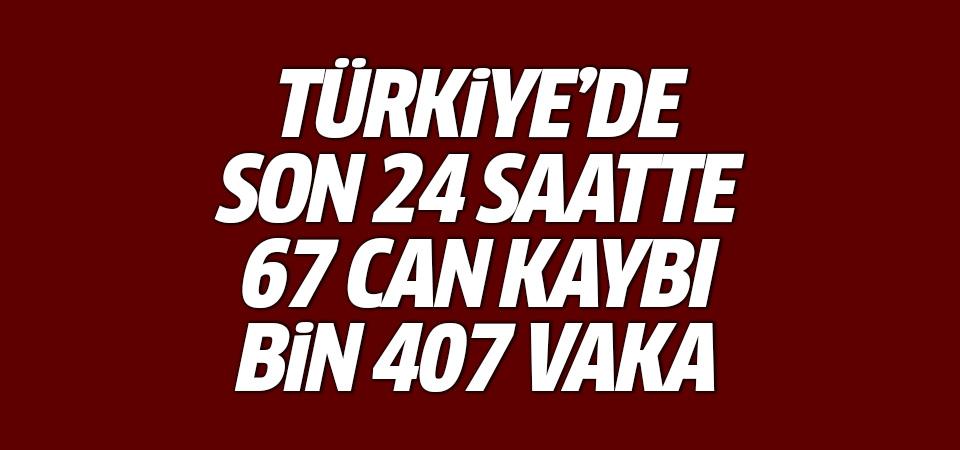 Türkiye'de corona virüsten son 24 saatte 67 can kaybı, bin 407 vaka 1 Ekim 2020
