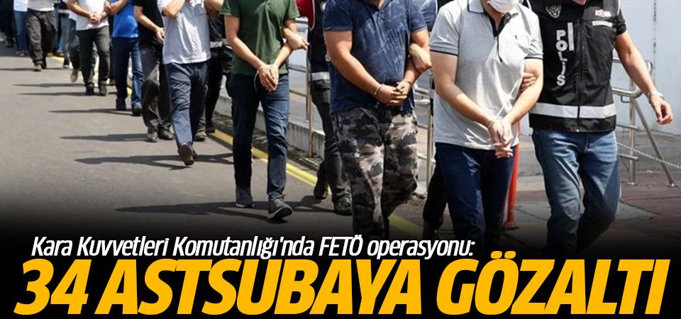 Kara Kuvvetleri Komutanlığı'nda FETÖ operasyonu: 34 gözaltı kararı