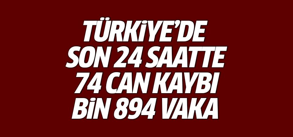 Türkiye'de corona virüsten son 24 saatte 74 can kaybı, bin 894 vaka 20 Ekim 2020