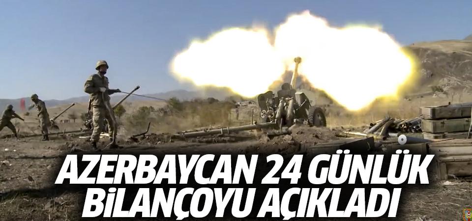 Azerbaycan 24 günlük bilançoyu açıkladı
