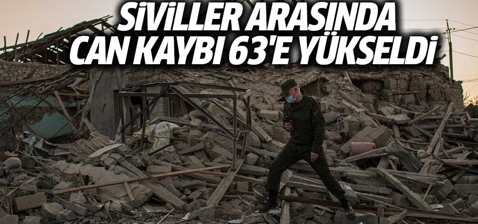 Azerbaycan: Siviller arasından can kaybı 63'e yükseldi