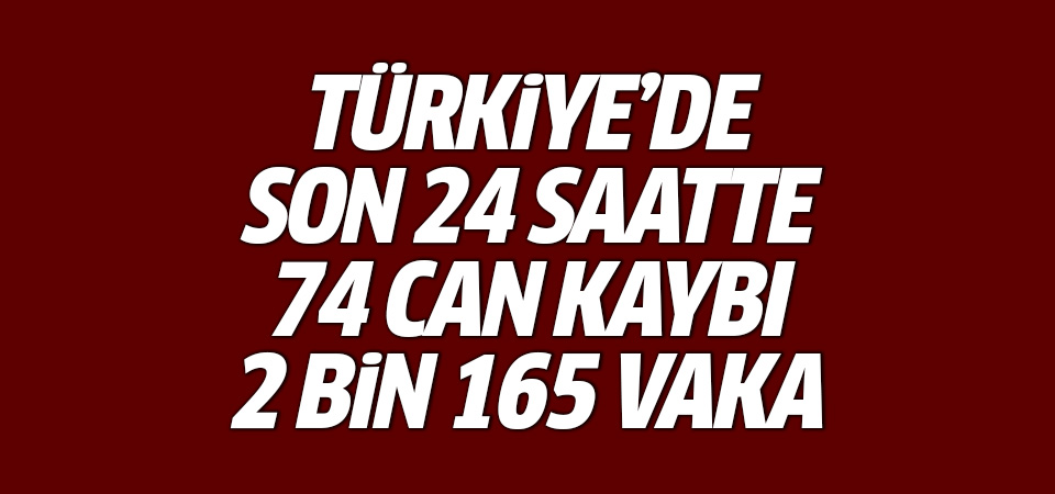 Türkiye'de corona virüsten son 24 saatte 74 can kaybı, 2 bin 165 vaka 23 Ekim 2020