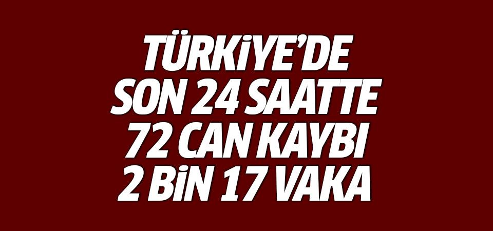 Türkiye'de corona virüsten son 24 saatte 72 can kaybı, 2 bin 17 vaka 25 Ekim 2020