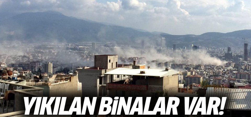 İzmir'de şiddetli deprem sonrası binalar yıkıldı