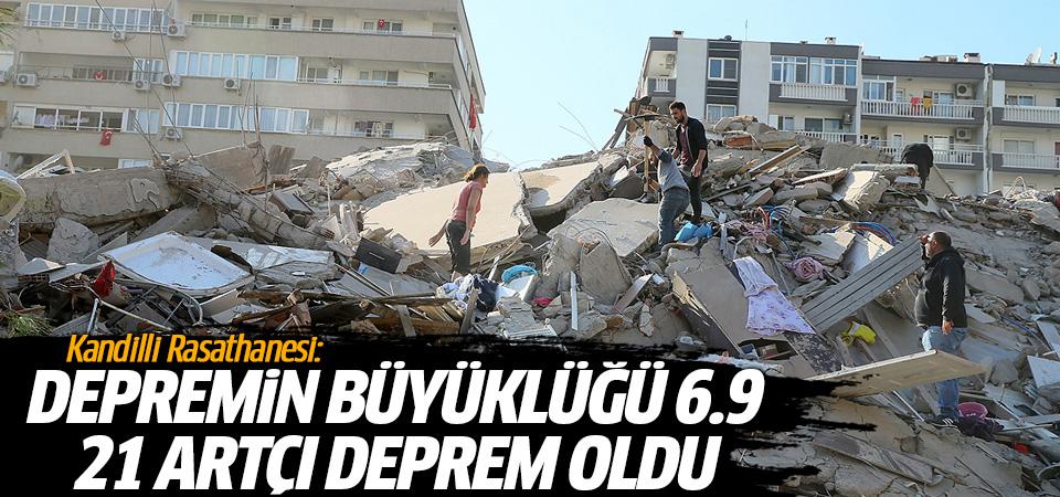 Kandilli Rasathanesi: Depremin büyüklüğü 6.9 ve 21 artçı deprem oldu