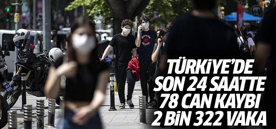 Türkiye'de corona virüsten son 24 saatte 78 can kaybı, 2 bin 322 vaka 30 Ekim 2020