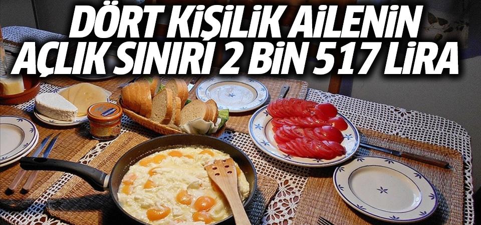 Türk-İş: Açlık sınırı 2 bin 517, yoksulluk sınırı 8 bin 198 lira
