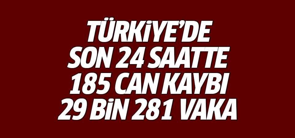 Türkiye'de corona virüsten son 24 saatte 185 can kaybı, 29 bin 281 vaka 29 Kasım 2020