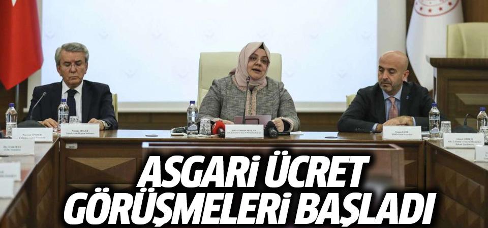 Asgari ücret görüşmeleri başladı: Bakan Selçuk'tan ilk açıklama