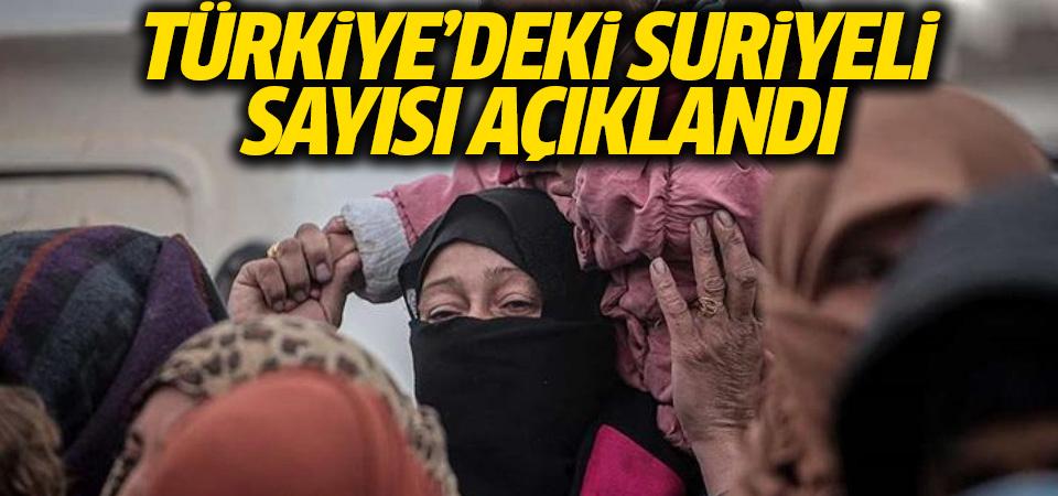 Türkiye'deki Suriyeli sayısı açıklandı