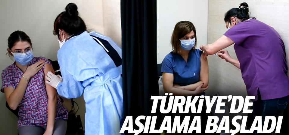 Türkiye'de aşılama başladı