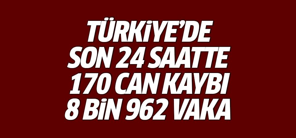 Türkiye'de corona virüsten son 24 saatte 170 can kaybı, 8 bin 962 yeni vaka 14 Ocak 2021