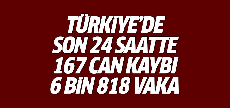 Türkiye'de corona virüsten son 24 saatte 167 can kaybı, 6 bin 818 yeni vaka 19 Ocak 2021