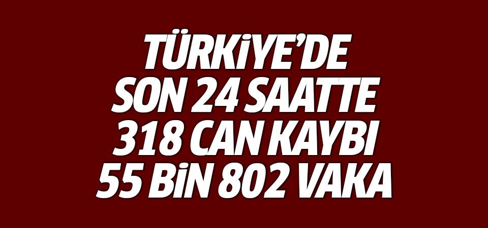 Türkiye'de corona virüsten son 24 saatte 318 can kaybı, 55 bin 802 yeni vaka 18 Nisan 2021