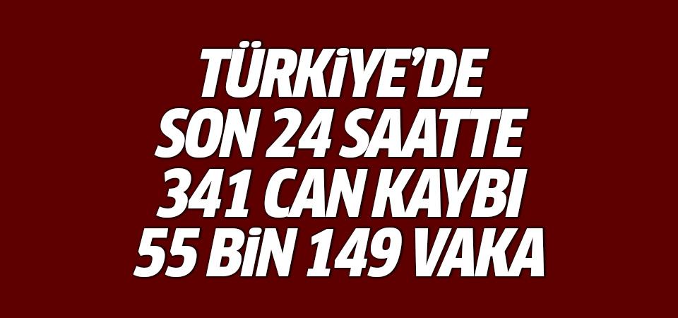 Türkiye'de corona virüsten son 24 saatte 341 can kaybı, 55 bin 149 yeni vaka 19 Nisan 2021