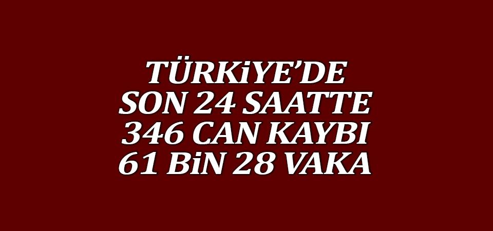 Türkiye'de corona virüsten son 24 saatte 346 can kaybı, 61 bin 28 yeni vaka 20 Nisan 2021