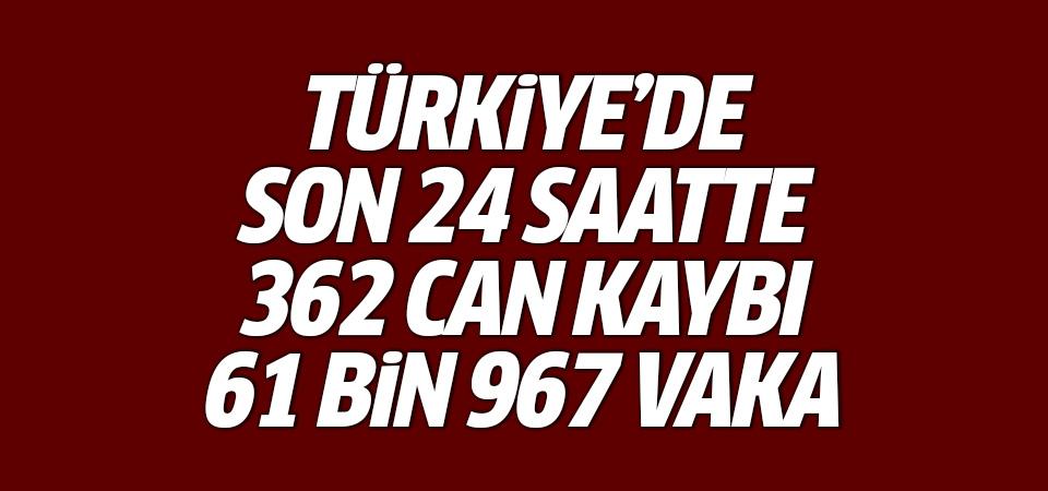 Türkiye'de corona virüsten son 24 saatte 362 can kaybı, 61 bin 967 yeni vaka 21 Nisan 2021