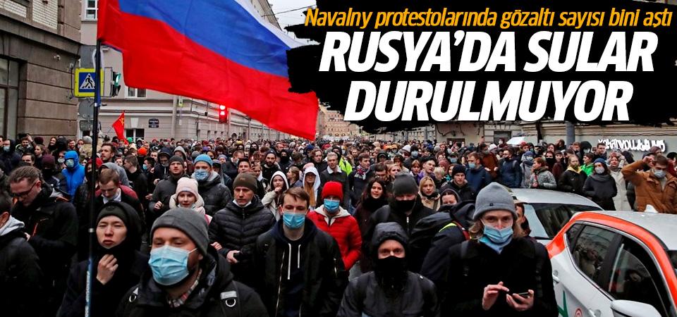 Rusya'da sular durulmuyor: Navalny protestolarında gözaltı sayısı bini aştı