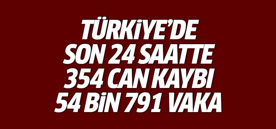 Türkiye'de corona virüsten son 24 saatte 354 can kaybı, 54 bin 791 yeni vaka 22 Nisan 2021