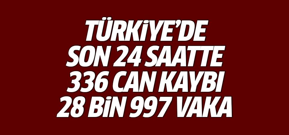 Türkiye'de corona virüsten son 24 saatte 336 can kaybı, 28 bin 997 yeni vaka 4 mayıs 2021