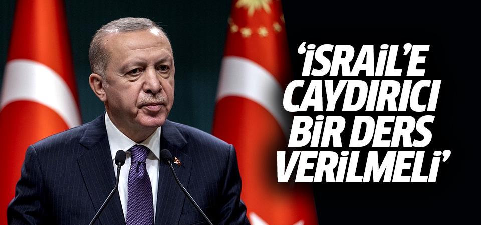 Erdoğan Ruhani ile görüştü: İsrail'e caydırıcı bir ders verilmeli
