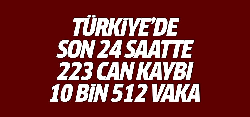Türkiye'de corona virüsten son 24 saatte 223 can kaybı, 10 bin 512 yeni vaka 16 mayıs 2021