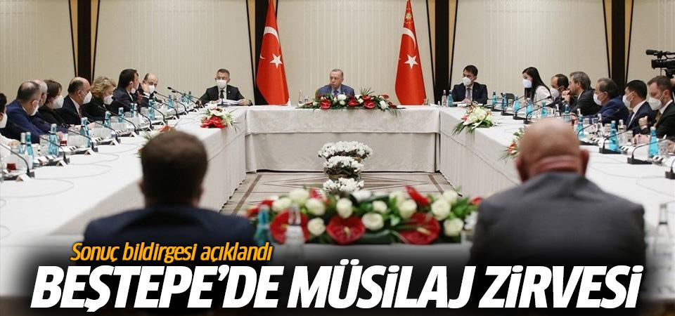 Beştepe'de müsilaj zirvesi! Sonuç bildirgesi açıklandı