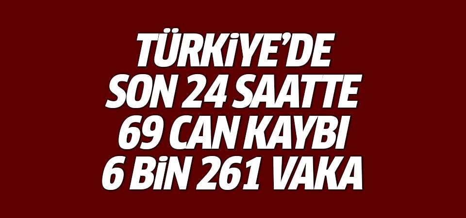Türkiye'de corona virüsten son 24 saatte 69 can kaybı, 6 bin 261 yeni vaka 11 haziran 2021