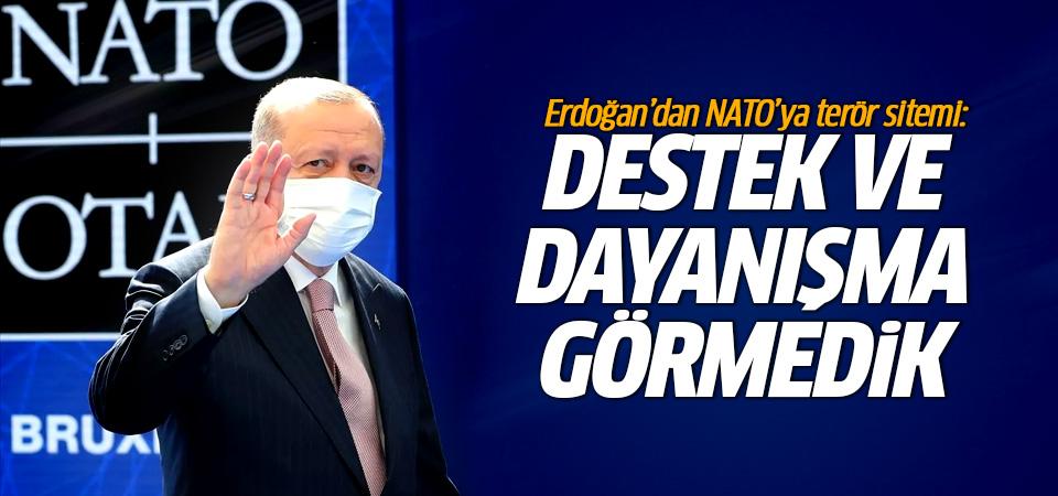 Erdoğan'dan NATO'ya terör sitemi: Destek ve dayanışma görmedik