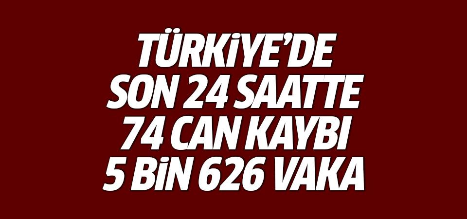 Türkiye'de corona virüsten son 24 saatte 74 can kaybı, 5 bin 626 yeni vaka 14 haziran 2021