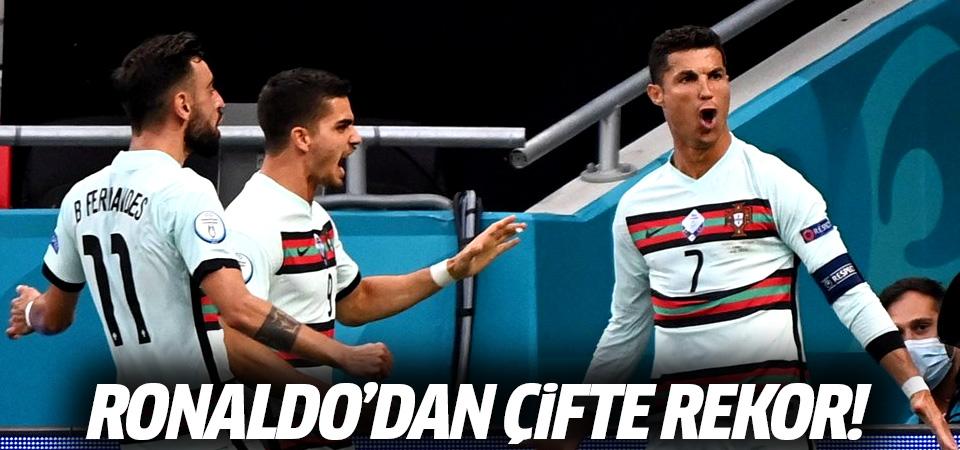 Portekiz, Macaristan'ı 3 golle yendi! Ronaldo'dan çifte rekor