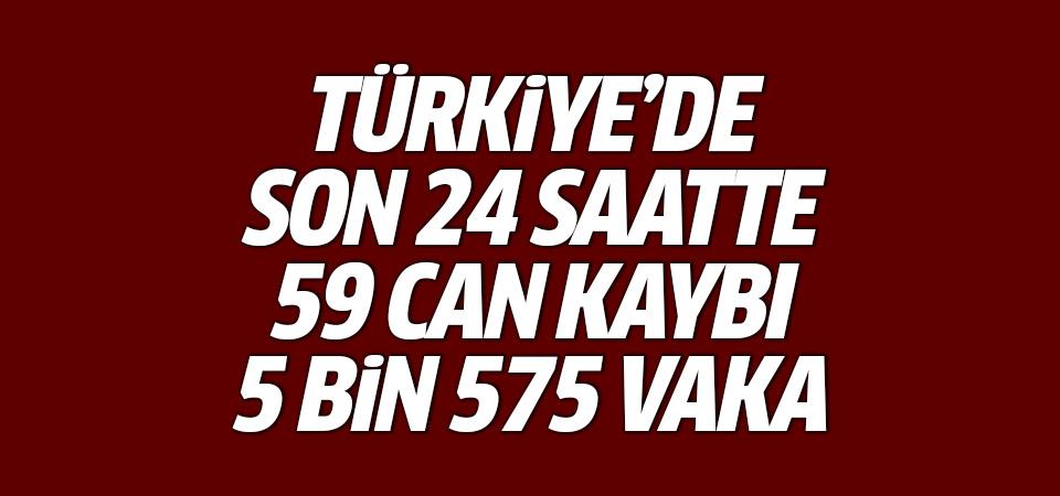 Türkiye'de corona virüsten son 24 saatte 59 can kaybı, 5 bin 575 yeni vaka 18 haziran 2021