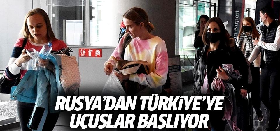 Rusya'dan Türkiye'ye uçuşlar başlıyor