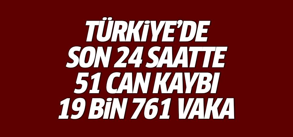 Türkiye'de corona virüsten son 24 saatte 51 can kaybı, 19 bin 761 yeni vaka 27 temmuz 2021
