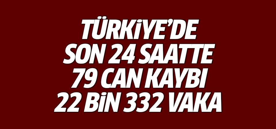 Türkiye'de corona virüsten son 24 saatte 79 can kaybı, 22 bin 332 yeni vaka 31 temmuz 2021