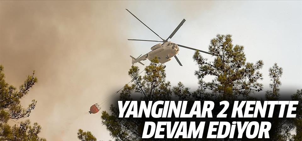Yangınlar 2 kentte devam ediyor: Bodrum'da alevler Mazıköy'e dayandı