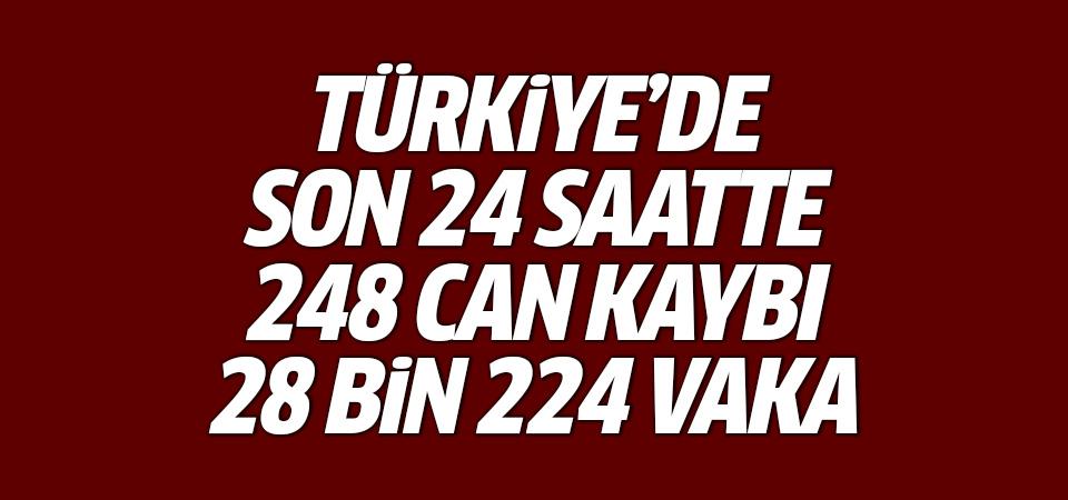 Türkiye'de corona virüsten son 24 saatte 248 can kaybı, 28 bin 224 yeni vaka 15 Eylül 2021