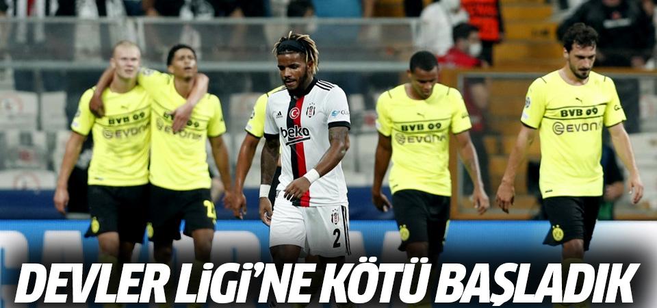 Beşiktaş, Devler Ligi'ne mağlubiyetle başladı! 2-1