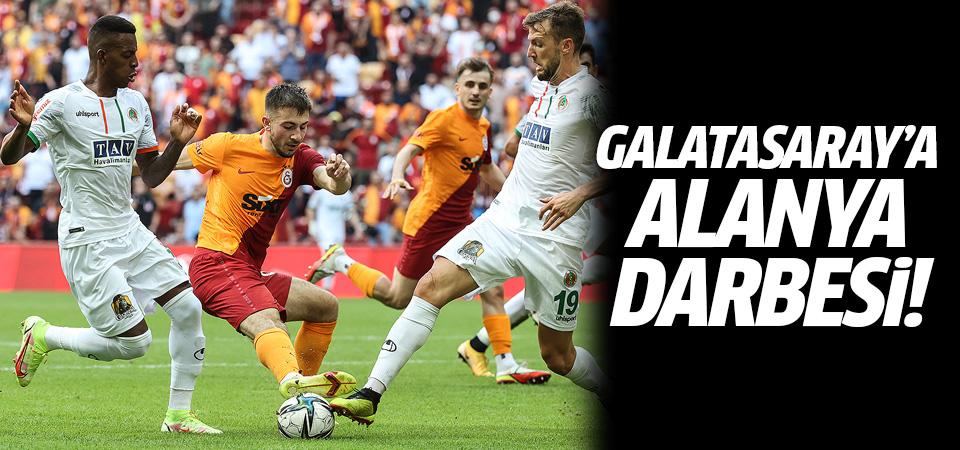 Galatasaray'a evinde Alanya darbesi! 1-0