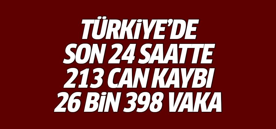 Türkiye'de corona virüsten son 24 saatte 213 can kaybı, 26 bin 398 yeni vaka 19 Eylül 2021