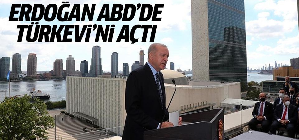 Erdoğan ABD'de Türkevi'ni açtı