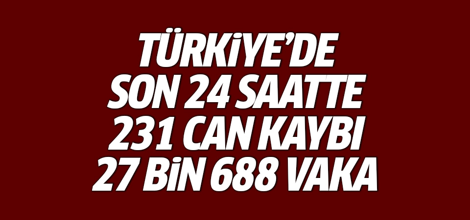 Türkiye'de corona virüsten son 24 saatte 231 can kaybı, 27 bin 688 yeni vaka 20 Eylül 2021