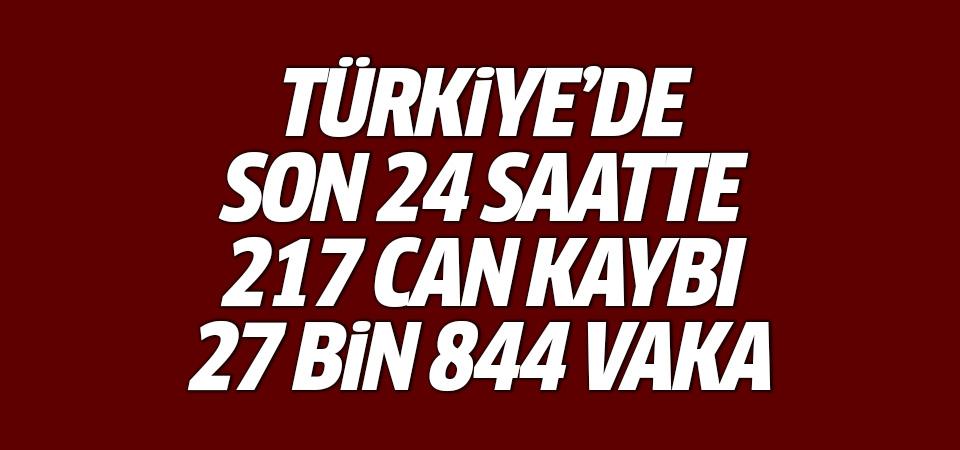Türkiye'de corona virüsten son 24 saatte 217 can kaybı, 27 bin 844 yeni vaka 23 Eylül 2021
