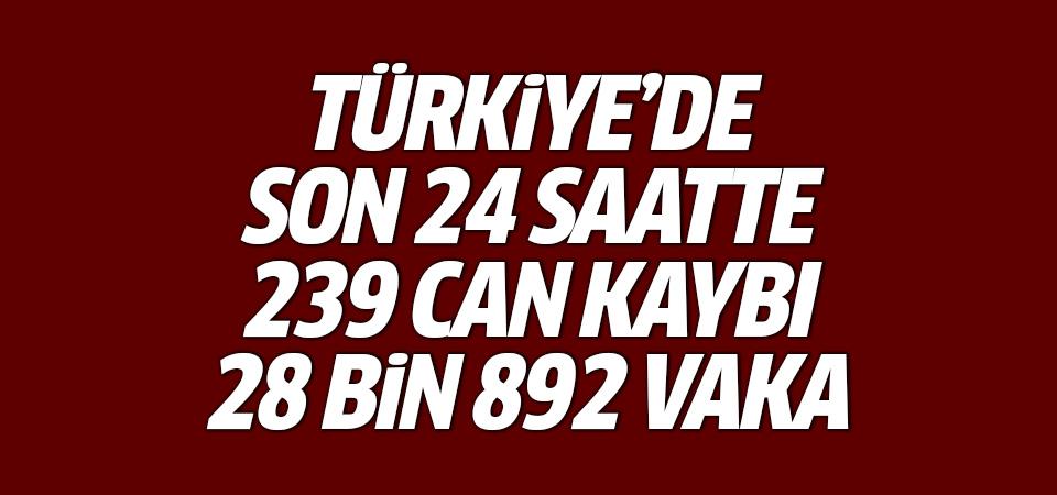 Türkiye'de corona virüsten son 24 saatte 239 can kaybı, 28 bin 892 yeni vaka 28 Eylül 2021