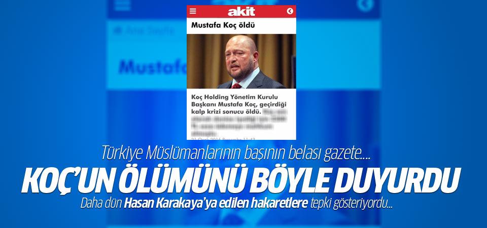 Yeni Akit'ten Mustafa Koç terbiyesizliği!