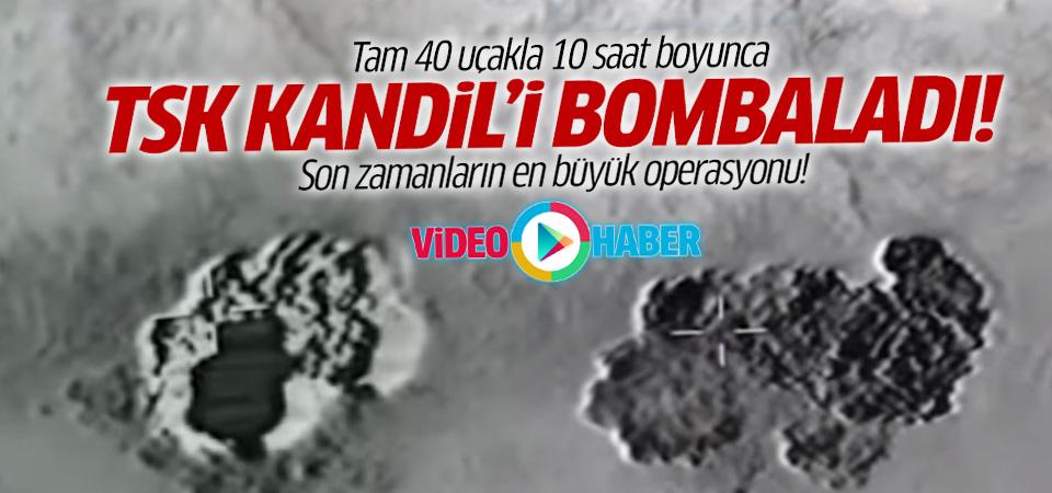 TSK'dan 40 savaş uçağıyla Kandil'e operasyon