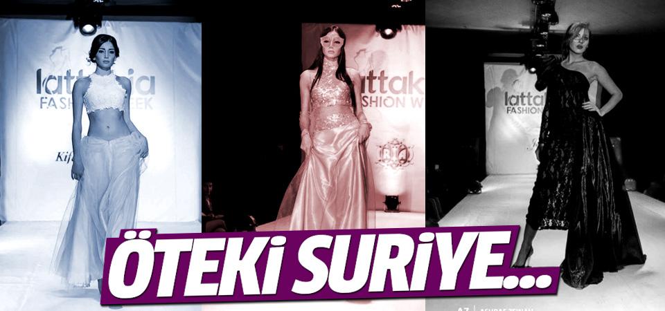 Öteki Suriye'de moda şovu düzenlendi...