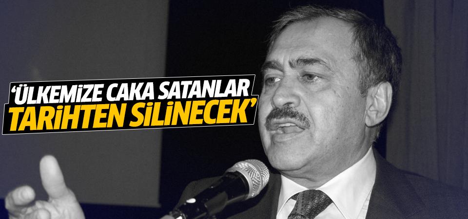 Eroğlu: Ülkemize caka satanlar tarihten silinecek